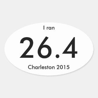 Charleston Marathon and Half Marathon 2015 Oval Sticker