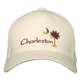 Charleston Maroon/Gold Palmetto Moon Embroidered H Embroidered Baseball Cap