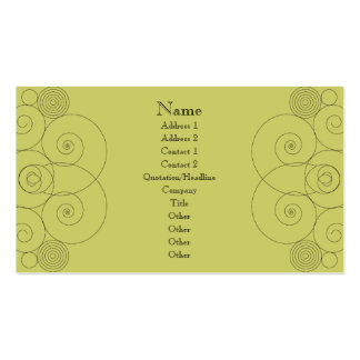 Charleston - Muted Yellow Green Business Cards