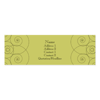 Charleston - Muted Yellow Green (Double Sided) Double-Sided Mini Business Cards (Pack Of 20)