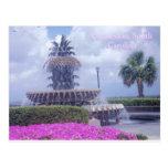 Charleston, postal del SC y flores