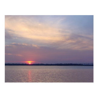 Charleston, puesta del sol del SC Postales