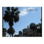 Charleston :: Rainbow Row :: Palm Trees Postcard