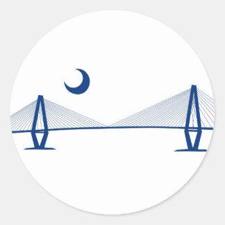 Charleston Ravenel Bridge Classic Round Sticker