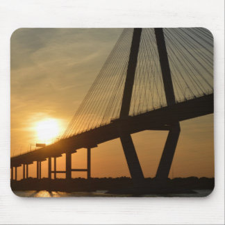 Charleston Ravenel Bridge Sunset Mouse Pad