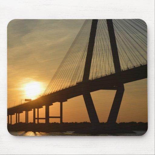 Charleston Ravenel Bridge Sunset Mouse Pad
