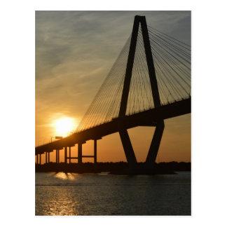 Charleston Ravenel Bridge Sunset Postcard