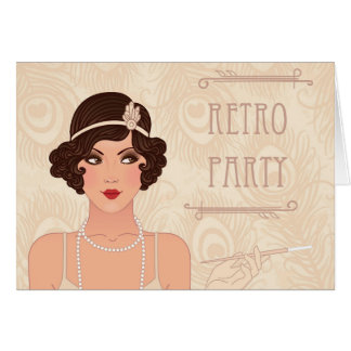 Charleston Retro Party Note Card