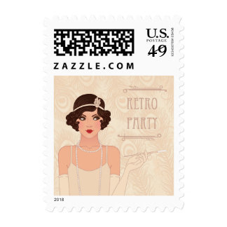 Charleston Retro Party Postage Stamp