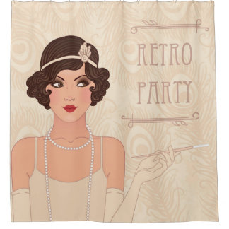Charleston Retro Party Shower Curtain