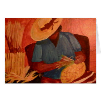 Charleston, SC Basket Lady by Artist Sue Stepp Card