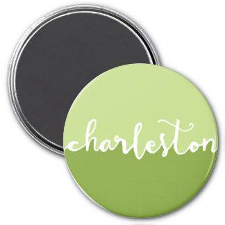 Charleston, SC   Green Circle Ombre Magnet