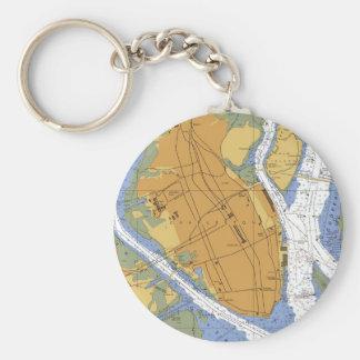 Charleston SC  Harbor Navigation Chart Keychain