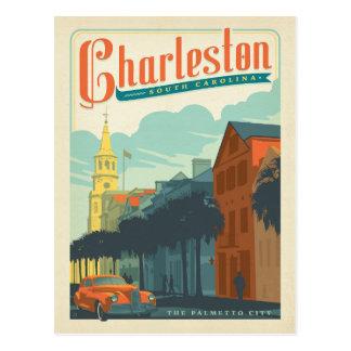 Charleston, SC - la ciudad del Palmetto Tarjeta Postal