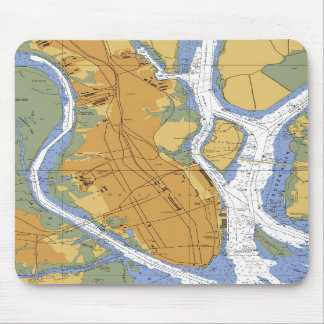 Charleston SC Nautical Harbor Chart mousepad