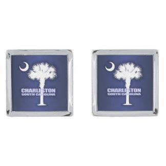 Charleston SC (Palmetto & Crescent) Silver Cufflinks