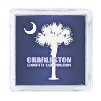 Charleston SC (Palmetto & Crescent) Silver Finish Lapel Pin