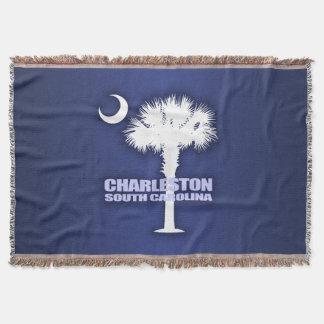 Charleston SC (Palmetto & Crescent) Throw Blanket
