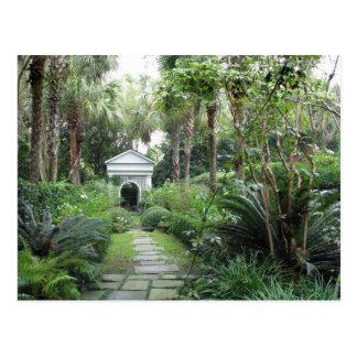 Charleston SC Palmettos Garden & Gazebo Postcard