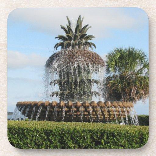 Charleston SC Pineapple Fountain Coasters