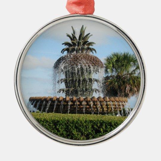 Charleston SC Pineapple Fountain Ornament