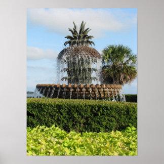 Charleston SC Pineapple Fountain Print