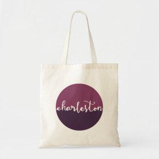Charleston, SC | Purple Circle Ombre Tote Bag