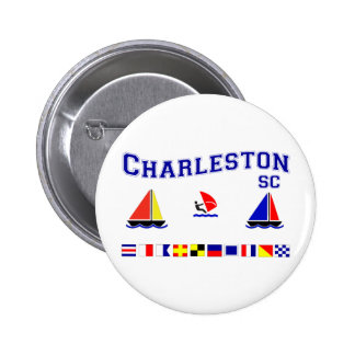 Charleston SC Signal Flags Pin