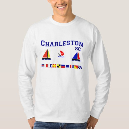Charleston sc signal flags t shirt zazzle for T shirt printing charleston sc