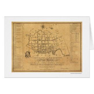 Charleston SC Street Map 1788 Card