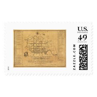 Charleston SC Street Map 1788 Postage