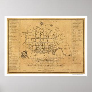 Charleston SC Street Map 1788 Poster