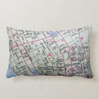 CHARLESTON, SC Vintage Map Lumbar Pillow