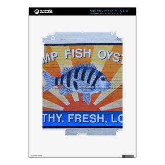 Charleston Seafood iPad 3 Skins