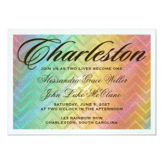 CHARLESTON Silver Metallic Destination Invitation
