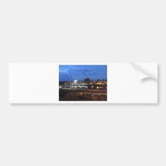 Charleston Skyline at Dusk Bumper Sticker
