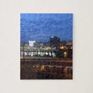 Charleston Skyline at Dusk Puzzle