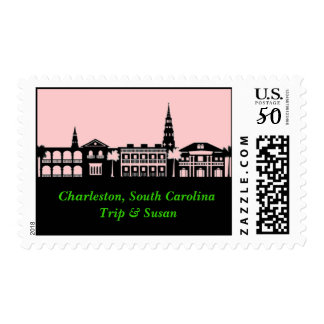 Charleston Skyline Postage Stamp