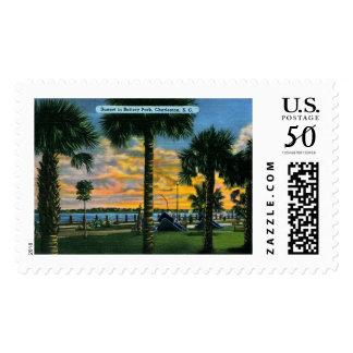 Charleston, South Carolina, Battery Park, Vintage Postage