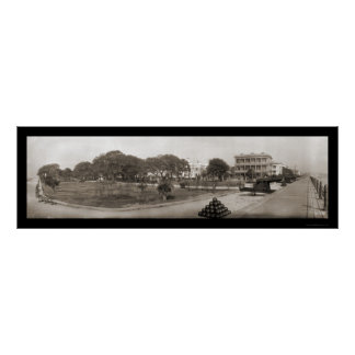 Charleston South Carolina Battery Photo 1909 Poster