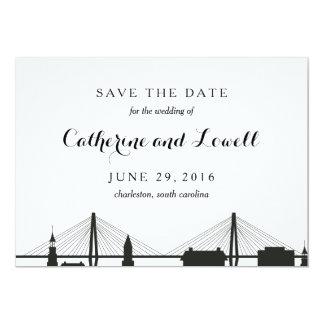 Charleston South Carolina Black Save the Date Card