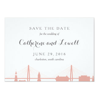Charleston South Carolina Blush Save the Date Card