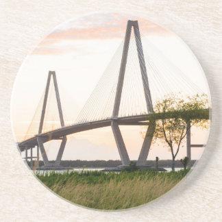 Charleston South Carolina Bridge - Cooper River Drink Coaster