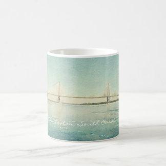 Charleston South Carolina Bridge Watercolor Cup Classic White Coffee Mug