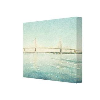 Charleston South Carolina Bridge Watercolor Print