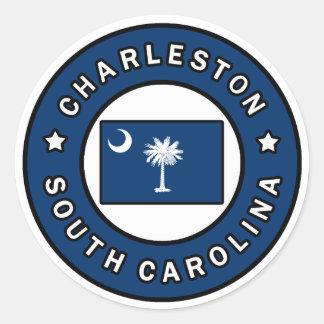 Charleston South Carolina Classic Round Sticker