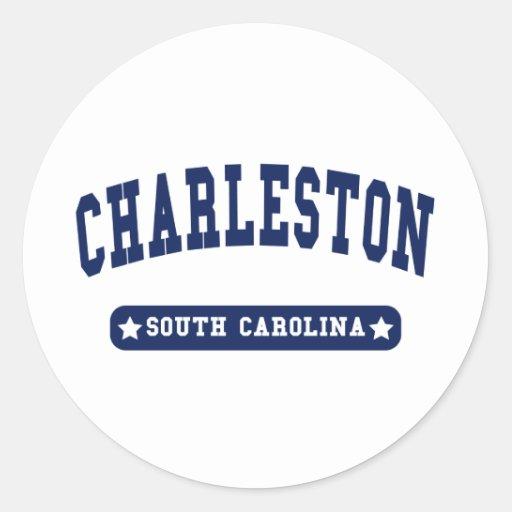 Charleston South Carolina College Style tee shirts Classic Round Sticker