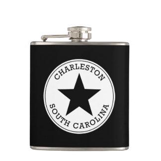 Charleston South Carolina Hip Flasks
