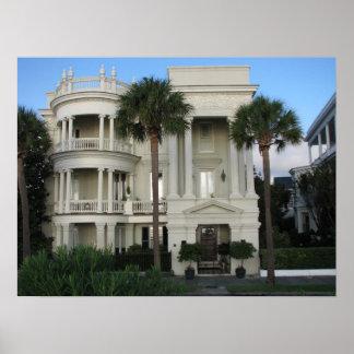Charleston South Carolina Historic Home Poster