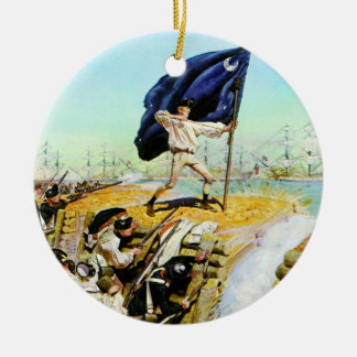 Charleston, South Carolina June 1776 Ceramic Ornament